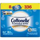 Cottonelle Flushable Wet Wipes, Unscented, 336 Wipes per Pack