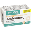 TopCare Low Dose Aspirin 81mg Chewable Orange Flavored Tablets
