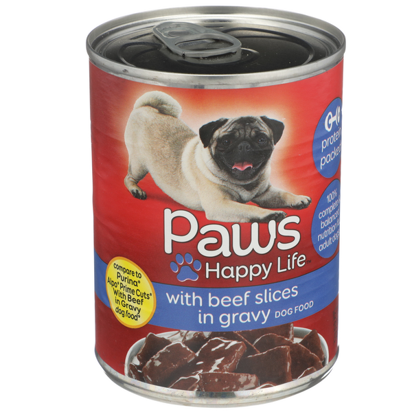 Paws Premium Slices with Beef in Gravy Dog Food