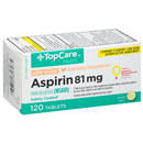 TopCare Adult Low Dose Aspirin 81mg Coated Tablets