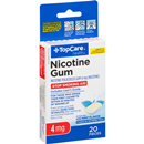 TopCare Nicotine Gum 4mg Stop Smoking Aid, Ice Mint Flavor