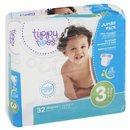 Tippy Toes Diapers, Size 3 (16-28 Lb), Jumbo Pack