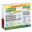 TopCare All Day Allergy Tablets & Fluticasone Propionate Nasal Spray USP 120 Sprays, Convenience Pk