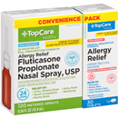 TopCare Fluticasone Propionate Nasal Spray, USP & Original Prescription Strength Indoor & Outdoor Allergies Loratadine 10 Mg Antihistamine Tablets Convenience Pack