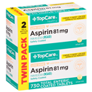 Top Care Health Low Dose Asprin 81mg Tablets Twin Pack