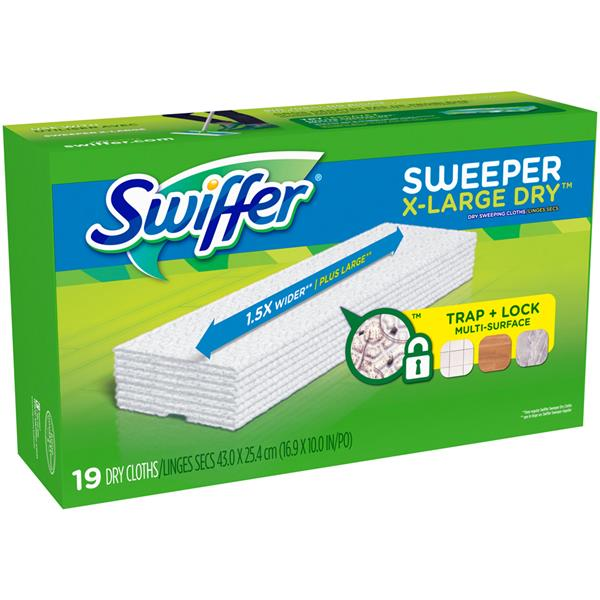 Swiffer Sweeper X Large Dry Sweeping Refills 19 Ct Hy