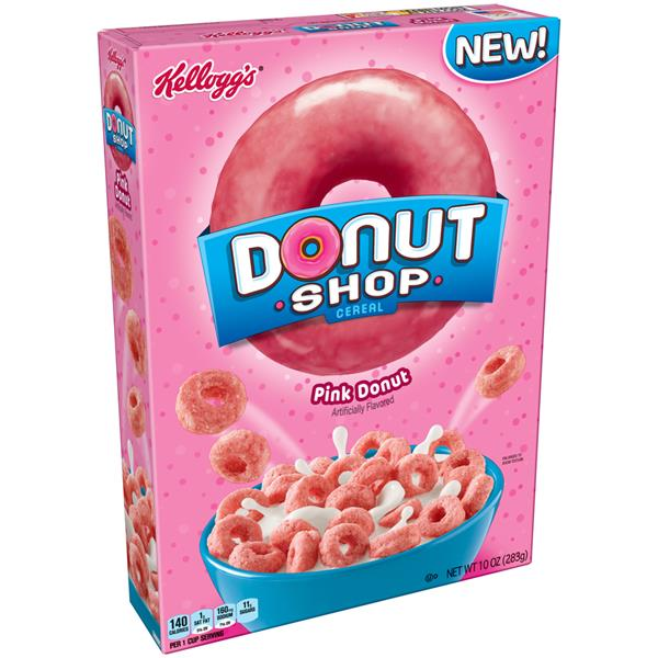 Kelloggs's Donut Shop Pink Donut Cereal 10 Oz. Box
