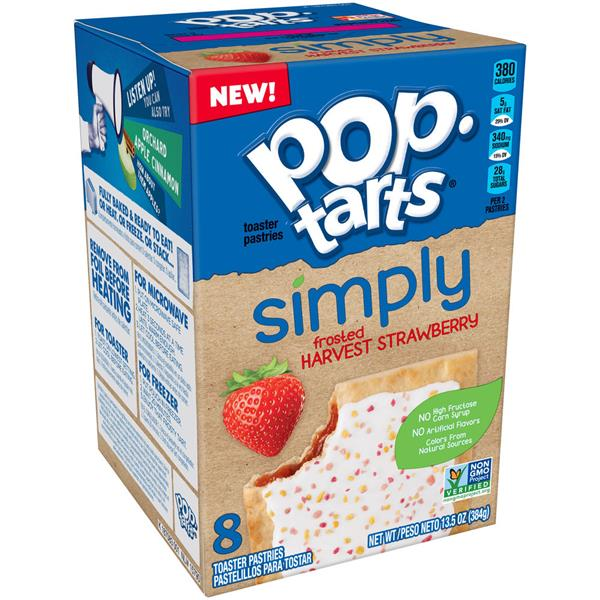 Kellogg's Pop-Tarts Simply Frosted Harvest Strawberry 8Ct