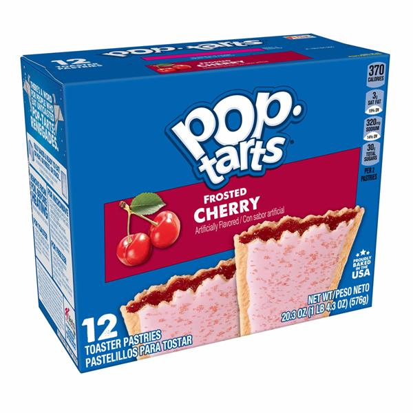 Kellogg's Pop-Tarts Frosted Cherry 12Ct