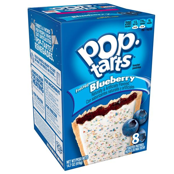 Kellogg's Pop-Tarts Frosted Blueberry Toaster Pastries 8Ct