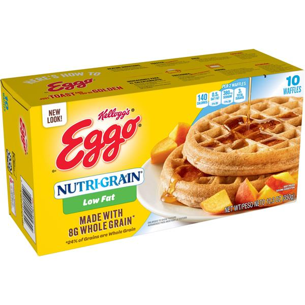 Kellogg's Eggo Nutri-Grain Low Fat Waffles 10 ct