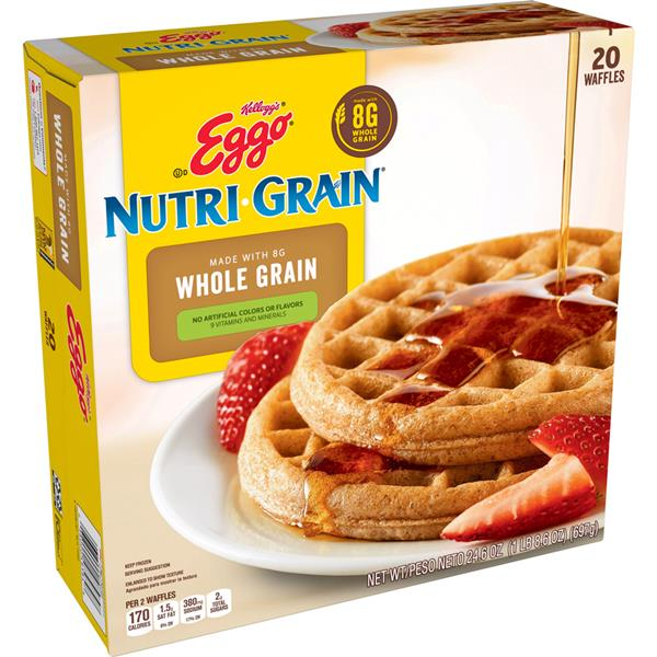 Kellogg's Eggo Nutri-Grain Whole Wheat Waffles 20 ct