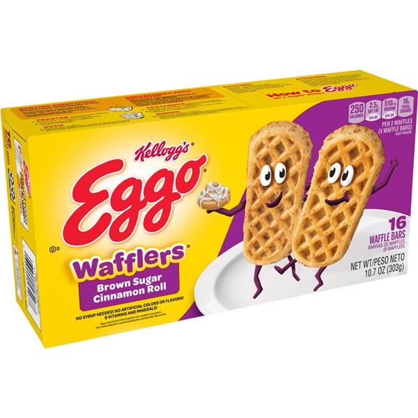 Kellogg&#39s Eggo Wafflers Bars Brown Sugar Cinnamon Roll 16Ct