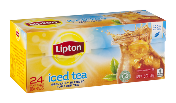 Lipton Iced Tea 24ct Family Size Bags Hy Vee Aisles Online Grocery Shopping