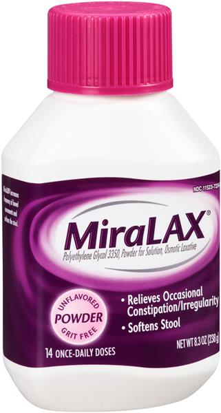 Miralax 14 Once Daily Doses Powder Laxative Hy Vee