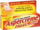 Aspercreme Heat Pain Relieving Gel Fast Acting Therapy