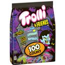Trolli & Friends Halloween Candy Variety Pack, Sour Brite Crawlers Minis, SweeTarts Mini Chewy, Sour Gummi Crunchers, Lemonhead, Sour Bites Fruitz & Nerds - 100 Ct