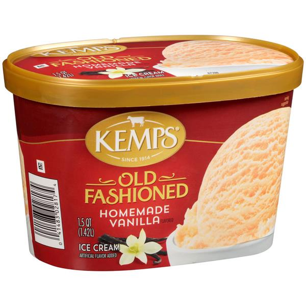 Kemps Old Fashioned Homemade Vanilla Ice Cream
