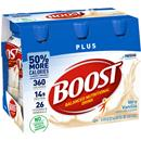 Boost Plus Very Vanilla Complete Nutrition Drink 6Pk