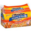 Maruchan Chicken Flavor Ramen Noodle Soup Souper 6Pk, 6-3 oz Packages