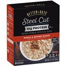 Better Oats Steel Cut With Protein Maple & Brown Sugar Instant Oatmeal with Flaxseeds 8Ct
