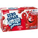 Kool-Aid Jammers Zero Sugar Cherry Flavored Drink 10-6 fl oz Pouches