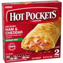 Hot Pockets Frozen Sandwiches Ham & Cheddar 2Pk