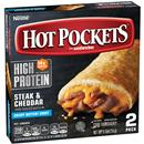 Hot Pockets Frozen Sandwiches Steak & Cheddar 2Pk