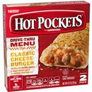 Hot Pockets Frozen Sandwiches Cheddar Cheeseburger 2Pk