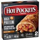 Hot Pockets Frozen Sandwiches Applewood Bacon Cheddar Cheese Melt Pizza Pretzel Bread