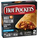 Hot Pockets High Protein Steak Fajita Recipe Frozen Sandwiches 2 Ct