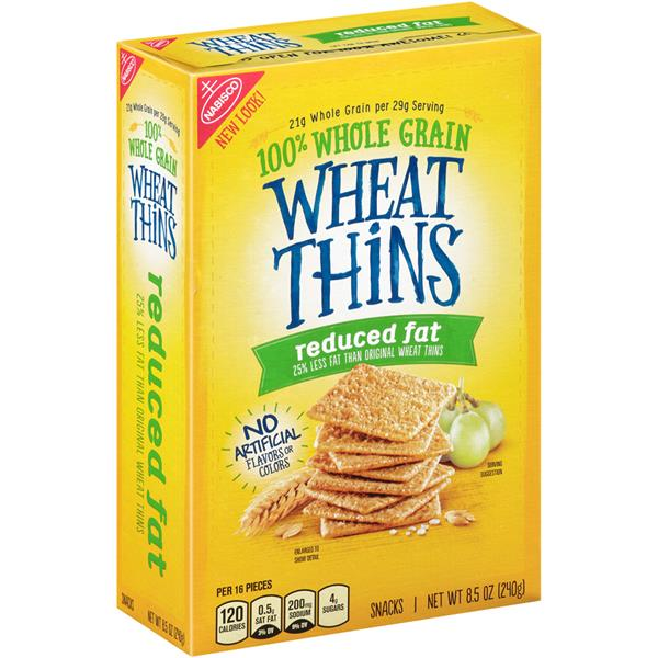 Reduced Fat Wheat Thins Nutrition images
