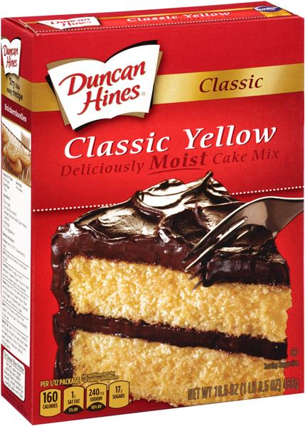 duncan hines yellow cake mix duncan hines classic yellow cake mix hy vee aisles 3776