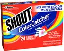 Shout Color Catcher In-Wash Dye Trapping Sheets