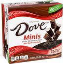 Dove Minis Dark Chocolate,Vanilla, Chocolate Ice Cream Pieces 14Ct