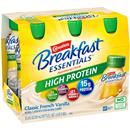 Carnation Breakfast Essentials High Protein Classic French Vanilla Nutritional Drink, 6-8 fl oz Bottles