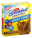 Carnation Breakfast Essentials Light Start Rich Milk Chocolate Complete Nutritional Drink, 8-0.705 oz Packets