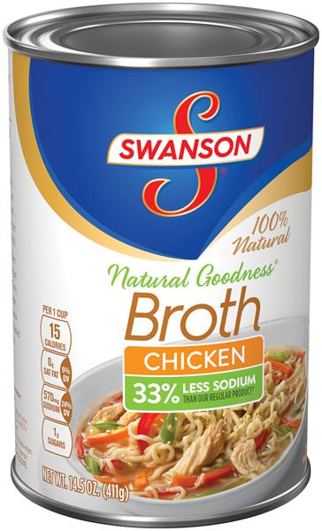Swanson 33 Less Sodium Chicken Broth Hy Vee Aisles Online Grocery Shopping
