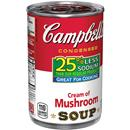 Campbell's 25% Less Sodium Cream of Mushroom Condensed Soup