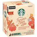 Starbucks Pumpkin Spice Caffe Latte K-Cup Pods & Flavor Packets 6 ct Box