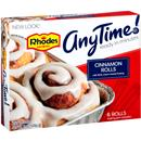 Rhodes Anytime! Cinnamon Rolls with Cream Cheese Frosting 6Ct