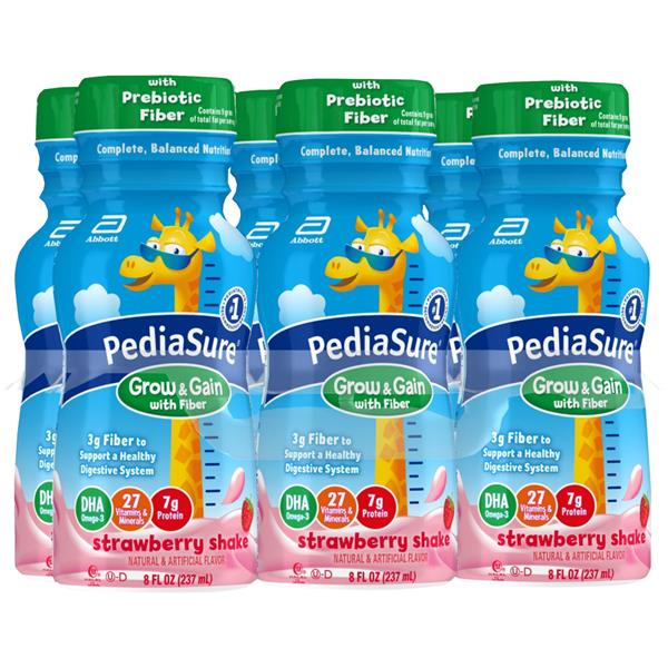 Pediasure Strawberry Shake With Fiber Nutritional Drink