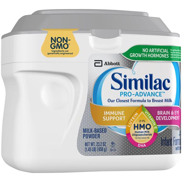 Similac Pro Advance Non Gmo Infant Formula Powder With
