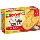 New York Brand Olde World Ciabatta Rolls with Real Garlic 6Ct