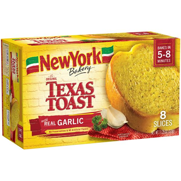 New York Brand Bakery The Original Texas Toast With Real Garlic 8 Ct Hy Vee Aisles Online Grocery Shopping