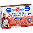 Purnell&#39s Old Folks Medium Country Sausage Patties 24 Ct