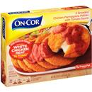 On-Cor Selects Breaded Chicken Parmagiana Patties with Tomato Sauce