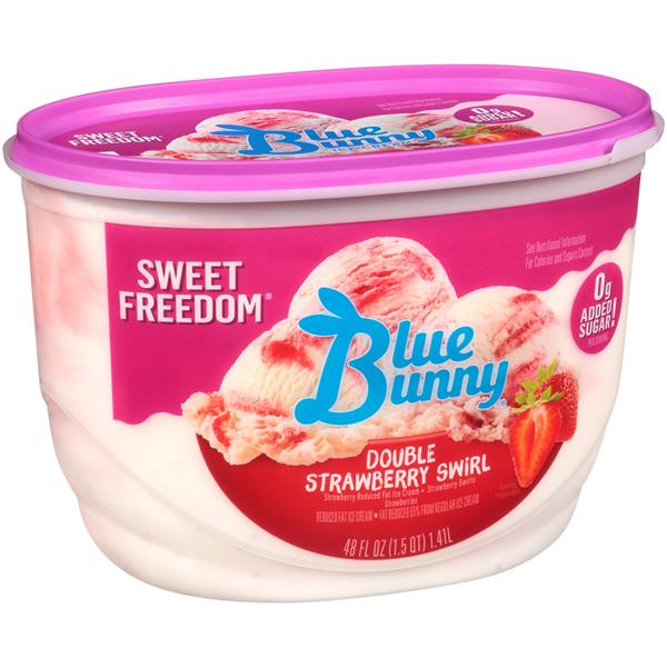 Blue Bunny Sweet Freedom Double Strawberry Light Ice Cream