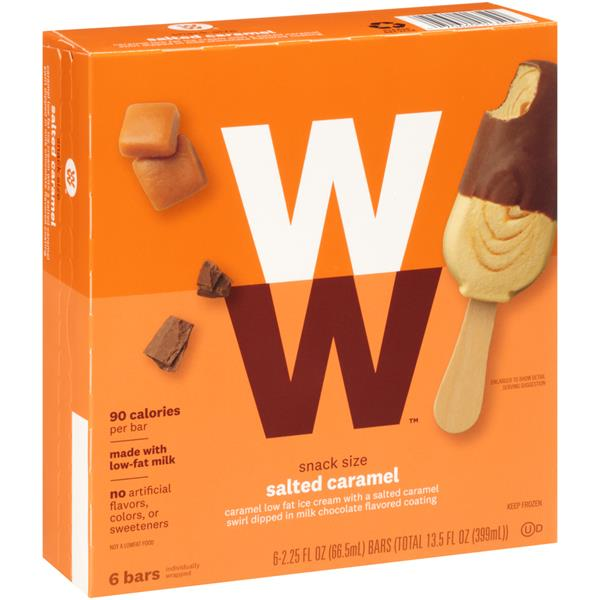 Weight Watchers Snack Size Salted Caramel Ice Cream Bars 6pk Hy