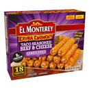 El Monterey Taco Seasoned Beef & Cheese Extra Crunchy Taquitos 21Ct